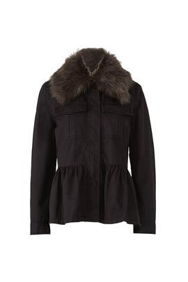Faux Fur Military Jacket by kate spade new york
