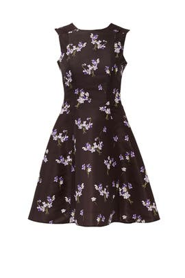 Black Wild Flower Dress by RED Valentino