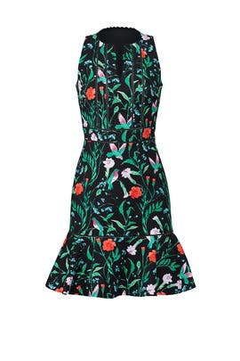 Jardin Tile Jacquard Dress by kate spade new york