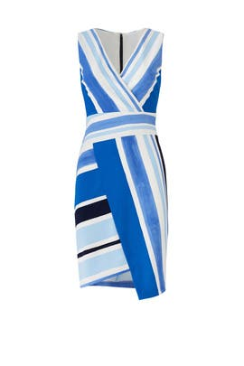 Blue Multi Striped Dress by Slate & Willow