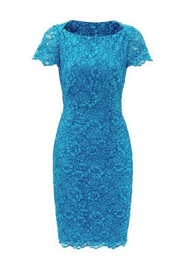 Blue Ainsley Corded Lace Dress by Diane von Furstenberg