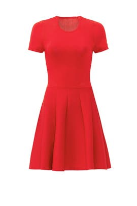 Red Trace Knit Dress by Parker