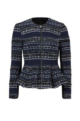 Navy Lurex Tweed Jacket by Rebecca Taylor