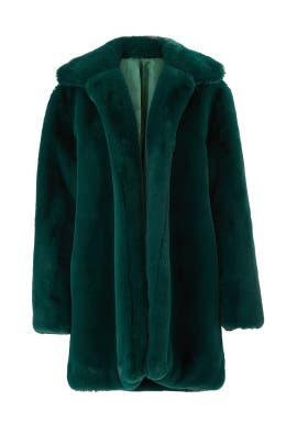 Emerald Dreaming Faux Fur Coat by somedays lovin