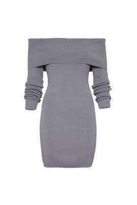 Grey Vana Knit Dress by STYLESTALKER