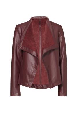 Burgundy Lillian Faux Leather Jacket by BB Dakota