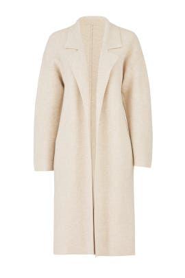 Oatmeal Long Coat by BROWN ALLAN