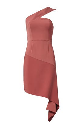 Pink Asymmetrical Hem Sheath by Keepsake