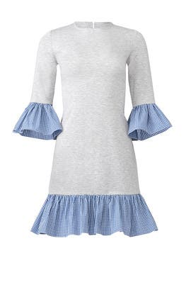 Gingham Ruffle Dress by Slate & Willow