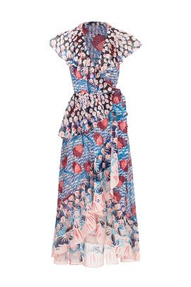 c0812835aa967 Garden Cacti Printed Wrap Dress by Temperley London for  150
