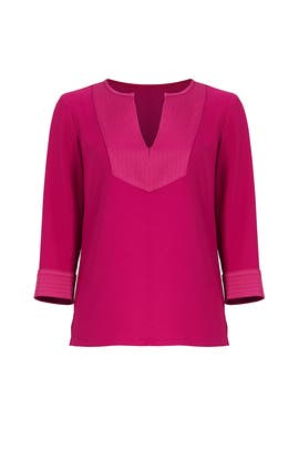 Berry Upbeat Top by Trina Turk