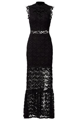 Black Dixie Lace Gown by Nightcap