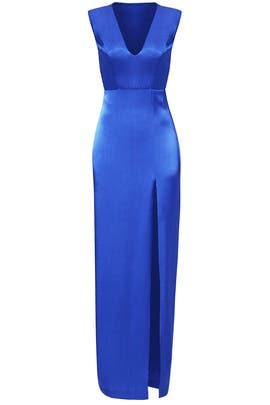 Cobalt Gem Slit Gown by Slate & Willow