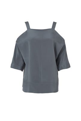Silk Cutout Shoulder Tunic by Tibi