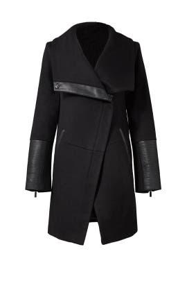 Black Diana Coat by Badgley Mischka