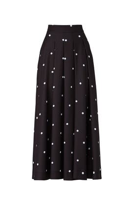 Polka Dot Midi Skirt by Fame & Partners