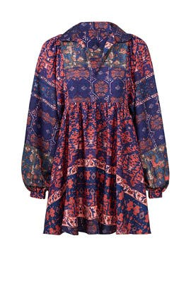 Printed Peasant Dress by RAGA