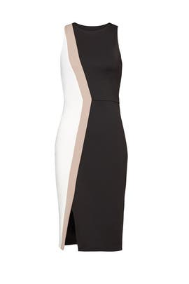 Cutout Hem Colorblock Sheath by Slate & Willow