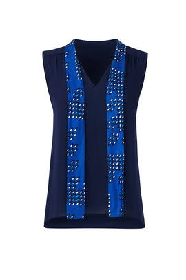 Britni Sleeveless Tie Top by Diane von Furstenberg