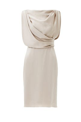 Taupe Grecian Draped Dress by Jason Wu