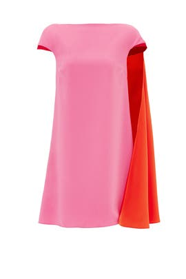 Valentine Cape Sleeve Shift by Landero