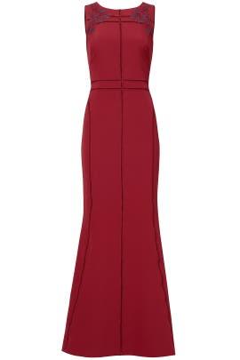 Burgundy Vine Gown by Marchesa Notte