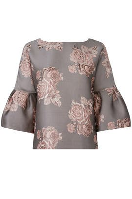 Floral Jacquard Top by Badgley Mischka