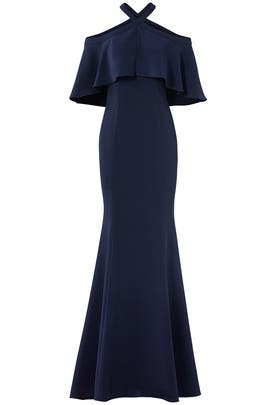 Navy Kayla Gown by Carmen Marc Valvo