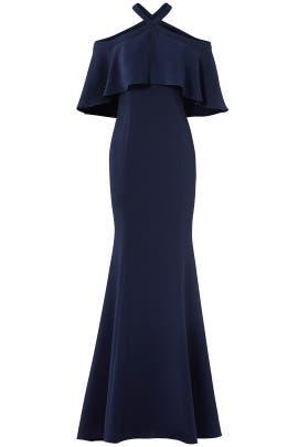 Navy Kayla Gown by Carmen Marc Valvo