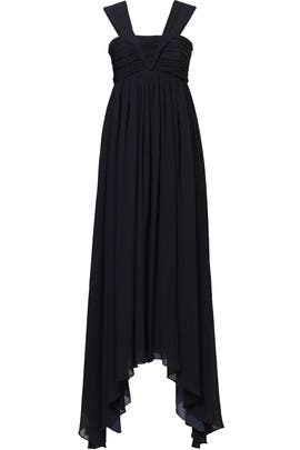 Navy Plisse Gown by ADEAM