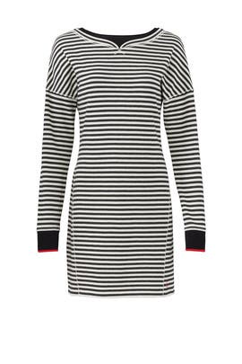 Stripe Boatneck Dress by Jason Wu Grey