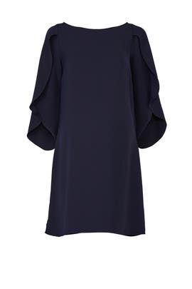 Navy Tulip Sleeve Maternity Dress by Ingrid & Isabel