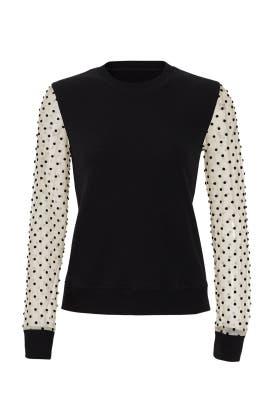 Polka Dot Sleeve Sweatshirt by RED Valentino