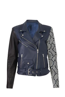 Jayne Combo Leather Jacket by VEDA