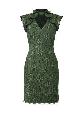 Green Lace Sheath by Adelyn Rae