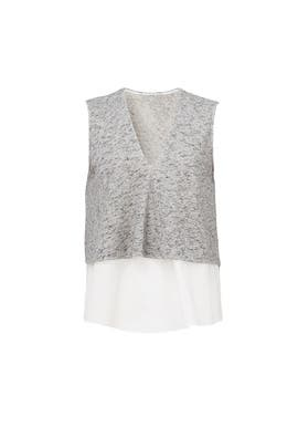 Grey Tiered Top by Derek Lam 10 Crosby