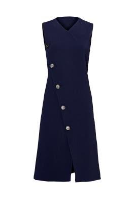 Navy Button Vest Dress by DEREK LAM