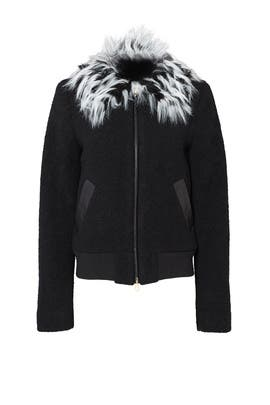 Alea Fur Collar Bomber by Ellie Mae