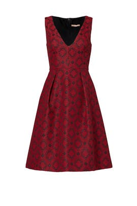 Red Printed Everly Dress by Hutch