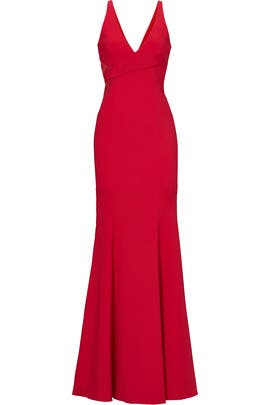 Red Rockefeller Gown by Jay Godfrey