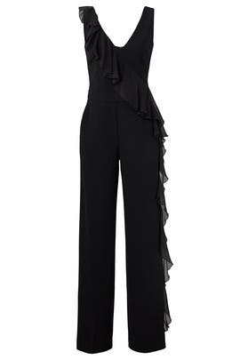 Ruffle Black Jumpsuit by Trina Turk