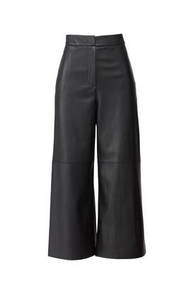 Faux Leather Culotte Pants by Goen. J