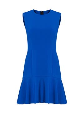 Blue Tiered Ruffle Dress by Jason Wu