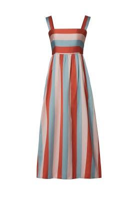 Multi Striped Midi Dress by RED Valentino