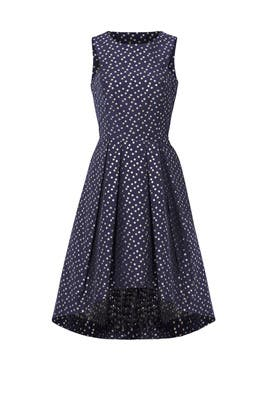 Metallic Dot Jacquard Dress by Shoshanna