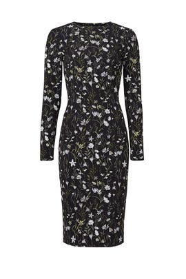 Prairie Floral Fitted Dress by Cynthia Rowley
