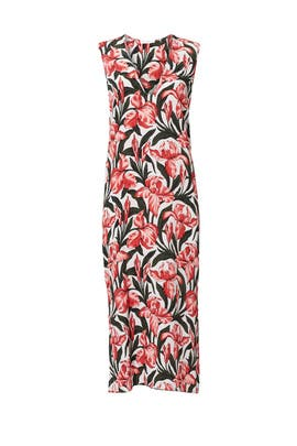 Tropical Floral Print Shift by Equipment