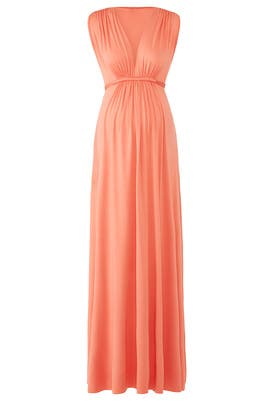 Coral Maternity Maxi by Rachel Pally