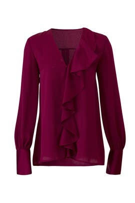 Berry Nico Blouse by The Jetset Diaries