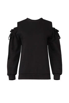 Tie Shoulder Sweatshirt by EVIDNT